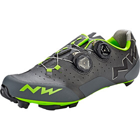 Northwave Rebel Shoes Herren anthra/acid green